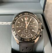 Tag Heuer Formula 1 Rubber Belt Chronograph Caz1010 Ft8024 [shipping Free]