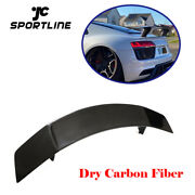 Rear Trunk Spoiler High Lid Wing For Audi R8 Coupe 2016-2018 Dry Carbon Fiber