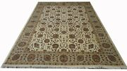 Hand Knotted Highend Luxurious Wool And Silk Rug 6.10 X 9.7 Feet