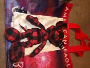New Disney Mickey Mouse X Ae American Eagle Special Edition Plush Doll - Plaid