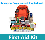 First Aid Kit Emergency Preparedness 3 Day Backpack Camping Hiking Travel Car