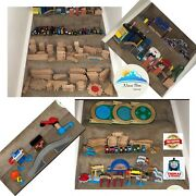Thomas The Train Wood Play Set 312 Pieces Railroad Tracks Trains Accesories