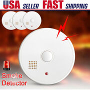 Smoke Detector Alert Warning Home Wireless Fire Alarm Safety 9v Battery Operated