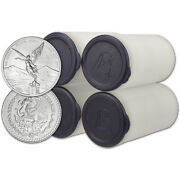 2020 Mexico Silver Libertad 1/2 Oz 1/2 Onza - 4 Rolls - 100 Coins In 4 Mint T
