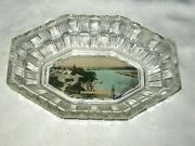 A Vintage Depression Clear Glass View Ware Souvenir Of Forster Nsw Looking South