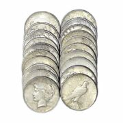 Us Peace Silver Dollars 20 Coin Lot 90 Coins Vg - Extra Fine