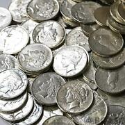 Us Peace Silver Dollars 20 Coin Lot 90 Coins Au - About Uncirculated