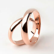 Christmas Gift For Both Couple Band 14k Solid Rose Gold All Size