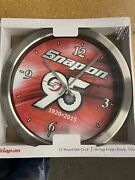 Snap-on Tools 12 Stainless Steel 95th Anniversary Shop Garage Wall Clock New