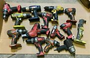Lot Of 14 Mixed Brand Power Tools [milwaukee Husky Dewalt Ryobi]as Is For Parts