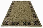 Wool And Silk Rug Super Fine Hand Knotted Luxurious Carpet 8.7 X 5.11 Feet