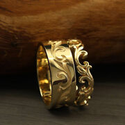 Christmas Sale 14k Solid Yellow Gold Beautiful Couple Band All Size Available