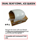 Royal Enfield Touring Dual Seat Cowl Ice Queen White For Continental Gt 650