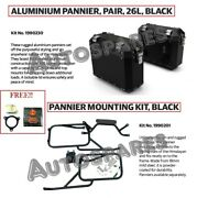 Royal Enfield Himalayan Aluminum Panniers Pair Black 26l With Free Oil Filter