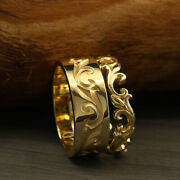 Beautiful Couple Band For Men And Women 14k Solid Yellow Gold All Size