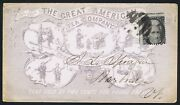 Usa 1863 C. 2c Black Illustrated Advertising Envelope Tea With Chinese Torture