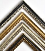 Spanish Antique Picture Frame, 1, Gold And Black, Silver, + More, Custom Sizes