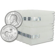 2021 South Africa Silver Krugerrand 1 Oz 1 Rand - 100 Bu Coins In 4 Mint Tubes