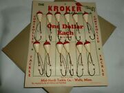 Vintage 1930's Kroker Fishing Lure Wells, Mn Store Display Must See Lot E-758
