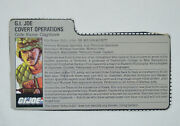 Gi Joe 1986 Special Mission Brazil Claymore File Card