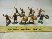 Vtg Lot Marx Warriors Of The World Wow Vikings 60mm Figures Soldiers Set Hk L1
