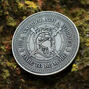 Warrior Mindset Coin   Daily Edc Reminder Coin   Everyday Carry Challenge Coin