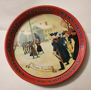 Vintage Scheidtand039s 1778 Valley Forge Beer Rams Head Ale Metal Serving Tray