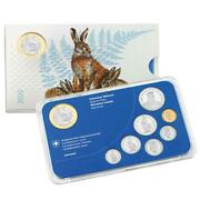 2020 Switzerland 8-coin Proof Set Incl. 10 Franc Chf European Hare