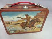 Vintage Advertising 1963 Western Tin  Lunchbox W/ Thermos Lunch Box  A-217