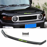 Abs Black Front Grille Grill Engine Hood Strip For Toyota Fj Cruiser 2007-2014
