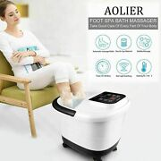 Aolier Foot Spa Bath Massager With Massage Rollers Heat And Bubbles Temp Y C 11