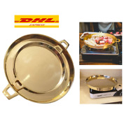 Grill Pan Bbq Non Stick Korean Barbecue Indoor Outdoor Brass Kitchen Stovetop
