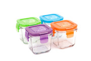 Wean Green Glass Baby Food Storage Containers, Wean Cube 4 Ounces, Garden Pack 4