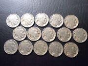 Buffalo Nickels 15 Coins - 1930 To 1938  0530-75