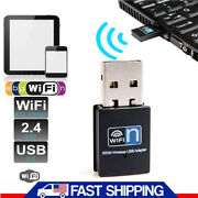 300mbps Wireless Usb Wifi Adapter Dongle Internet Lan 802.11n/g/b For Notebook
