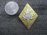 Vintage Wwii Canadian Womens Army Corps Hat Or Uniform Collar Badge Pin