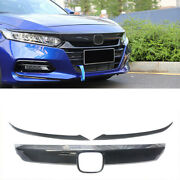 Front Grille Grill Moulding Trim+eyelid Cover For Honda Accord 18-20 Carbon Look