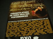 Amy Grant And Vince Gill Xmas At Rman Is Sold Out 2012 Promo Poster Ad