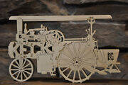 Antique Keck Steam Tractor Farm Machine 14 Parts Wood Toy Puzzle Hand Made Usa
