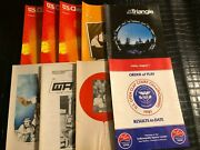 1980s Tennis Tournament Order Of Play And Triangle Magazine Lot Fre-170