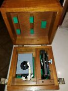 Taylor Hobson 112/803-106 Optical Square W/adj. Base 112/804 In Wooden Case