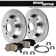Rear Drill Slot Brake Rotors And Ceramic Pads For 2009 2010 Bmw Z4