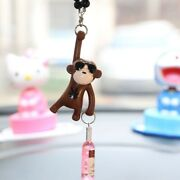 Funny Hanging Monkey Car Accessories Decoration View Mirror Interior Key Chain