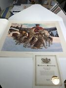 Arnold Friberg Companions Of The Trail Rcmp Art Print Northwest Mounted Police