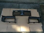 69 Charger Grille Center Section And Left End Cap Bucket Right End Cap Bucket Nos