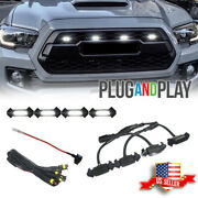 Raptor Style White Led Lamps Front Grill Lights Kit For 2016-2019 Toyota Tacoma