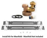 Uponor Wirsbo A2077510 Manifold Kit With Sweat Adapter, 3/4 And 1 Copper