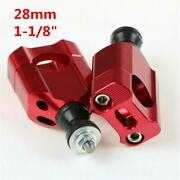 1 1/8 Cnc Motorcycle Red Handle Bar Clamp Risers Retrofit Accessories Universal