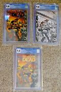The Walking Dead Deluxe 1 Set Of 3 9.8 Black Foil And Gold And Sketch Cover Variant