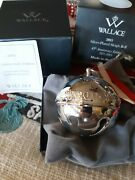 2015 Wallace Silver Plate Bell Ornament
